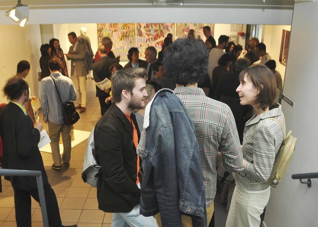 Vernissage, à droite Corinne Loisel, Cité des Arts