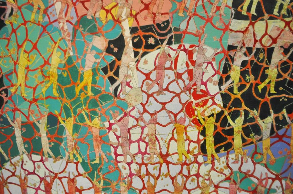 Détail du magnifique triptyque de Roya Akhavan, salle 2